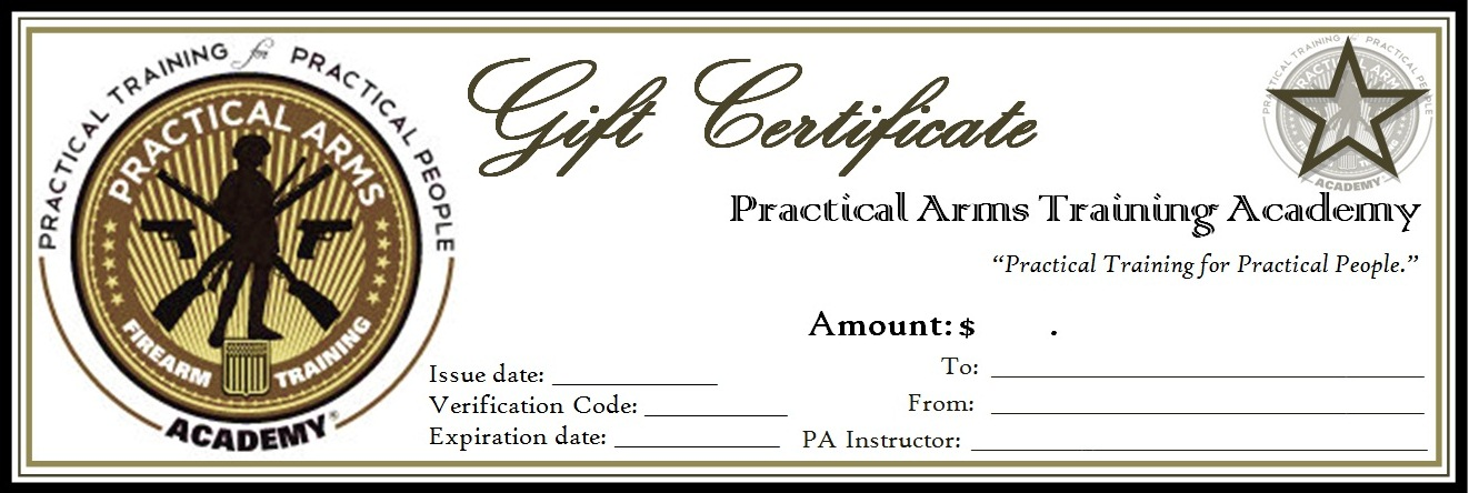 Practical Arms Gift Certificate